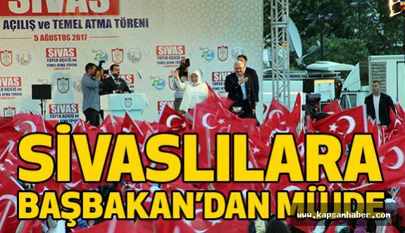 Başbakan Yıldırım'dan Sivas'a Müjde