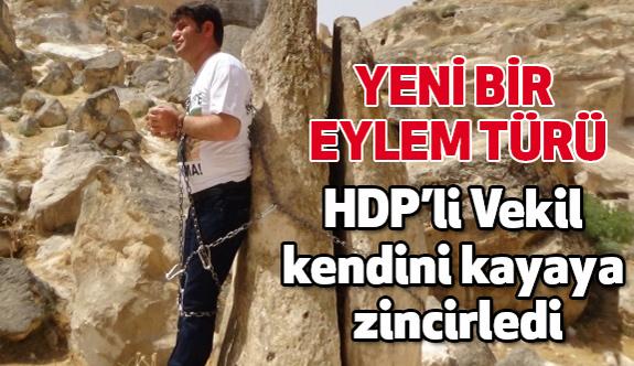 HDP'li Vekil'den Yeni Moda Zincirli Protesto