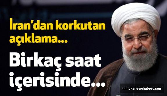 İran Cumhurbaşkanı Ruhani'den Korkutan Bir Açıklama Geldi