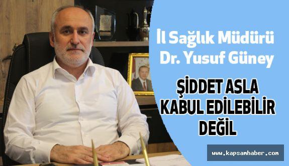 Samsun Sağlık Müdürü Güney, Sağlıkta Şiddet Olaylarını Kınadı