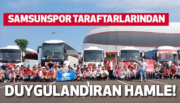 """Samsunsporlu taraftarlar: """"Bu ülke için canını Verene gidiyoruz"""""""