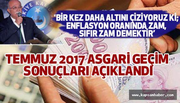 Türkiye Kamu Sen, Açlık Seviyesini Açıkladı