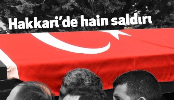 Çukurca'da Terör saldırısı: 1 Şehit
