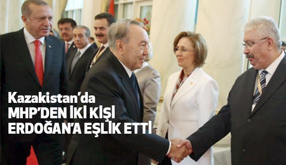 Cumhurbaşkanı Erdoğan'a Kazakistan'da iki MHP'li Eşlik Etti