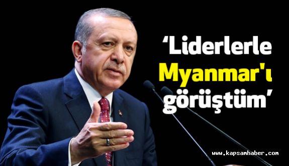 """Erdoğan: """"20'ye yakın dünya lideriyle Myanmar'ı görüştüm"""""""