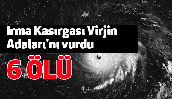 İrma Kasırgası Virjin Adaları'nı Vurdu