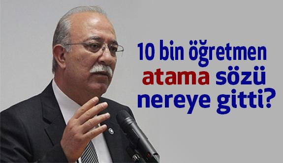 İsmail Koncuk, 10 Bin Atama Sözünü Hatırlattı
