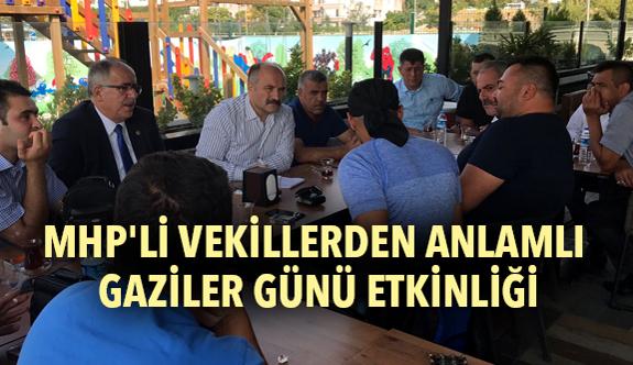 MHP'li Vekillerden Anlamlı Gaziler Günü Etkinliği