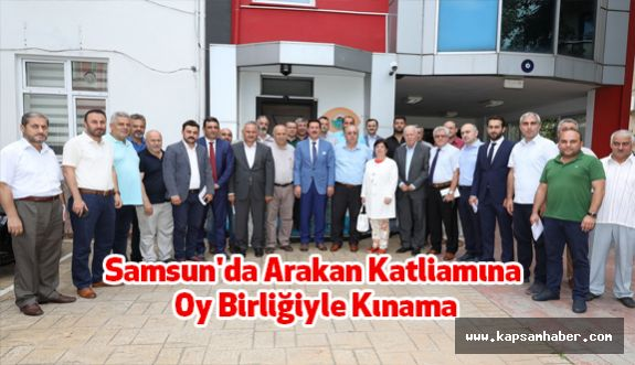 Samsun'da Arakan Katliamına Oy Birliğiyle Kınama