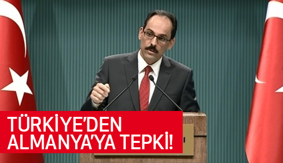 Türkiye'Den Almanya'ya Flaş Tepki!