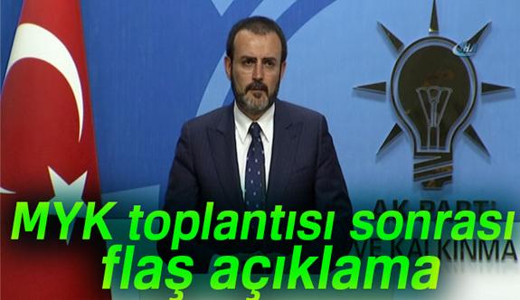 AK Parti'de MYK toplantısı İlk Açıklama