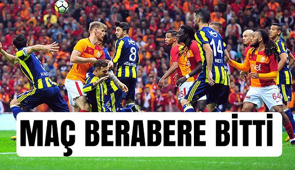 Fenerbahçe derbisi berabere bitti