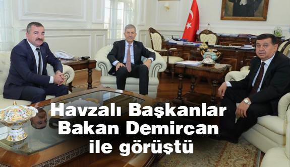 Havzalı Başkanlar Sağlık Bakanı Demircan ile görüştü