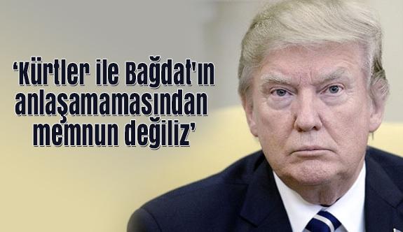 Trump; Kürtler ile Bağdat'ın Anlaşamamasından Memnun Değiliz