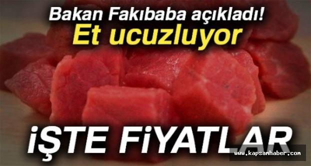 Bakan Fakıbaba Ucuzlayan Et Fiyatlarını Açıkladı
