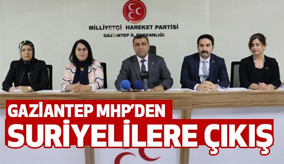 Gaziantep'te MHP'den Suriyeliler Çıkışı