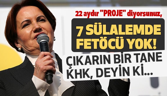 Meral Akşener; 7 Sülalemde Fetöcü Yok!