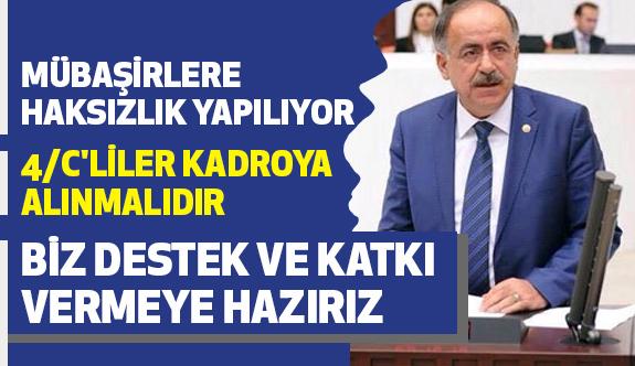 MHP'li Kalaycı; Genel Kurulda Mağduriyetleri Dile Getirdi