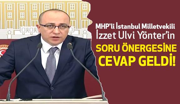 MHP'li Yönter'in Yazılı Soru Önergesine Cevap
