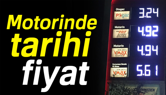 Motorinde Tarihi Fiyat!