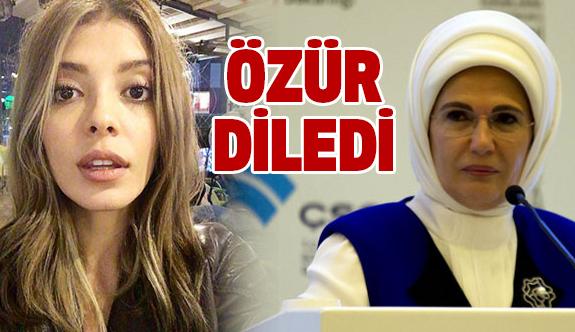 Oyuncu Selin Şekerci, Emine Erdoğan'dan Özür Diledi