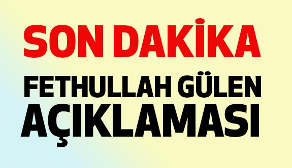 Son Dakika: Büyükelçilikten Fethullah Gülen Açıklaması