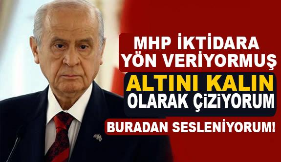 Bahçeli Noktayı Koydu; MHP İktidara Yön Veriyormuş...