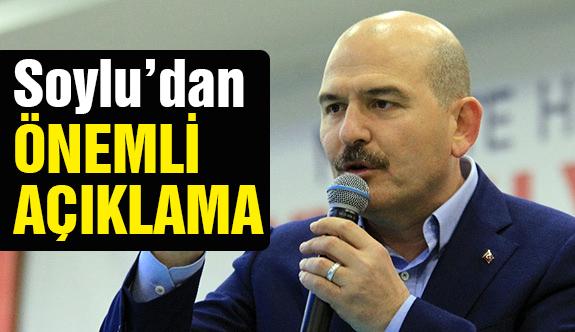 Bakan Süleyman Soylu'dan Önemli Açıklama