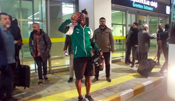 Bursaspor'a Konya'da coşkulu karşılama