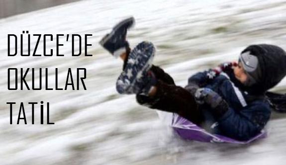 Düzce Kaynaşlı'da Okullara Kar tatili