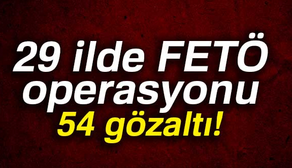 İstanbul Merkezli 29 İlde FETÖ Operasyonu