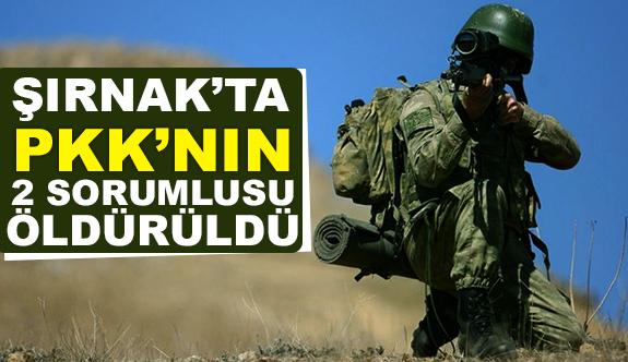 Şırnak'ta PKK'lı Sorumlular Öldürüldü