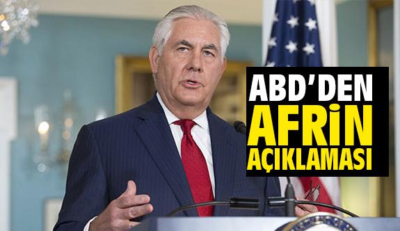"""ABD'den Afrin Açıklaması: """"Aynı Taraftayız"""""""