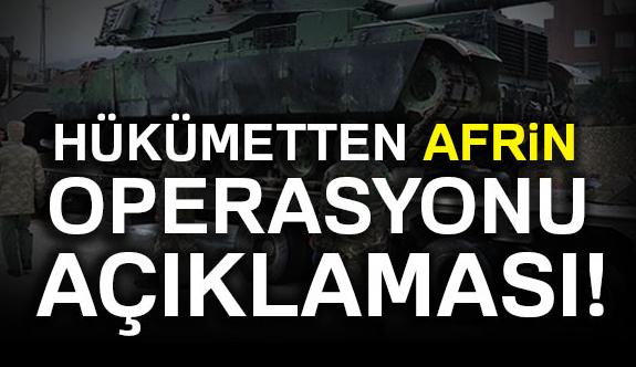 Canikli'den Afrin açıklaması