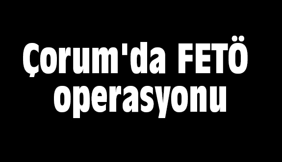 Çorum'da FETÖ operasyonu