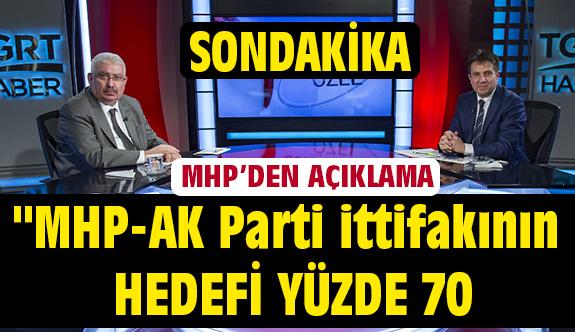 """Son Dakika MHP'den Açıklama: """"MHP-AK Parti ittifakının hedefi yüzde 70"""""""