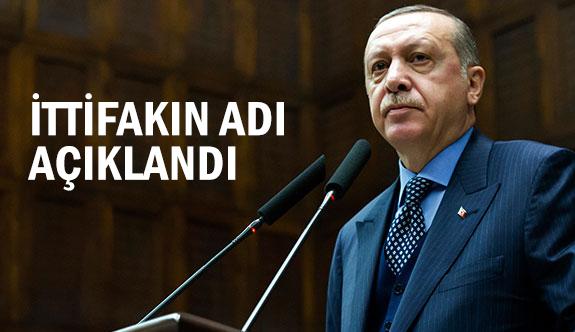 Ak Parti MHP İttifakın Adı Açıklandı