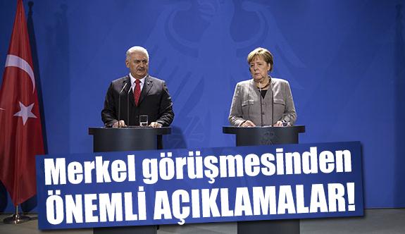 Başbakan Yıldırım ile Merkel Ortak  Basın Toplantısı Düzenledi