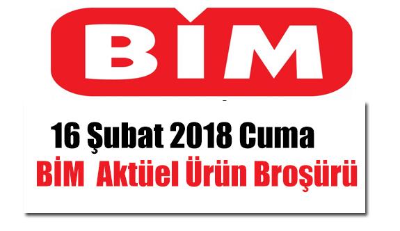 BİM  Aktüel Ürün Broşürü (16 Şubat 2018 Cuma)