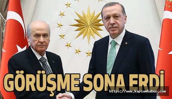 Erdoğan-Bahçeli görüşmesi Sona Erdi (Ne Konuştular?)