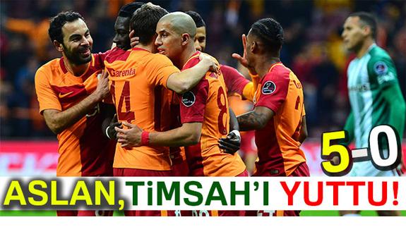Galatasaray 5-0 Bursaspor (Maçın Geniş Özeti)