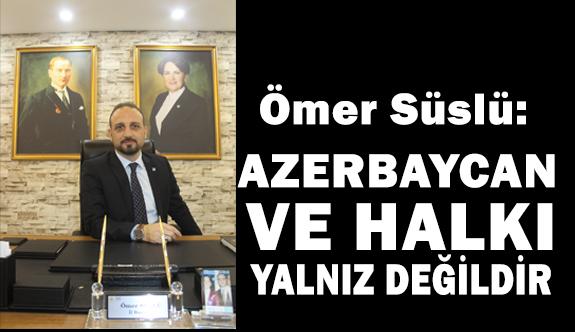 İYİ Parti Samsun İl Başkanı Ömer Süslü Hocalı Katliamını Kınadı