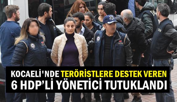 Kocaeli'nde 6 HDP'li yönetici tutuklandı