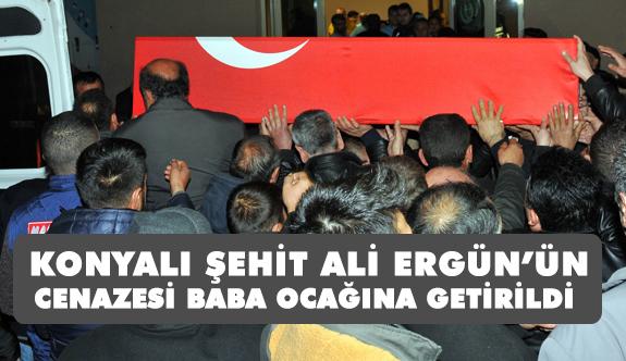 Konyalı Şehiti Ali Ergün'ün Cenazesi, Baba Ocağına Getirildi