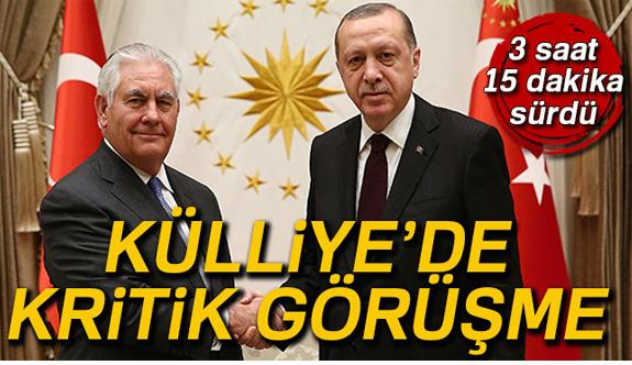 Külliye'de Erdoğan ile Tillerson görüşmesi sona erdi