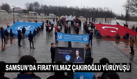 Samsun'da Fırat Çakıroğlu Yürüyüşü