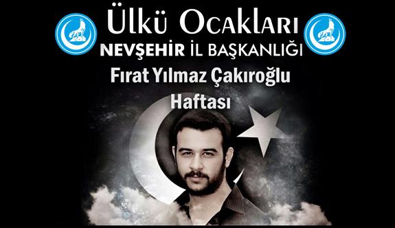Şehit Fırat Yılmaz Çakıroğlu Nevşehir'de anılacak