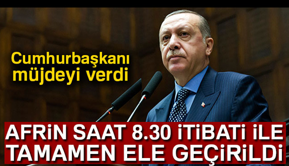 """""""Afrin 8.30 itibariyle tamamen kontrol altına alındı"""""""