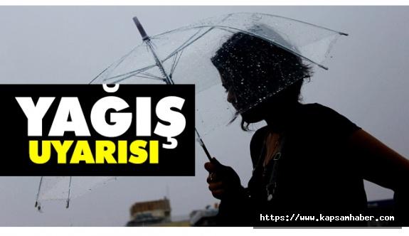 Yağış Uyarısı! (19 Mart Pazartesi)