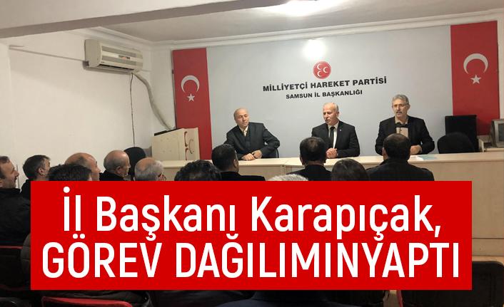 Karapıçak, yeni yönetimde görev dağılımını yaptı